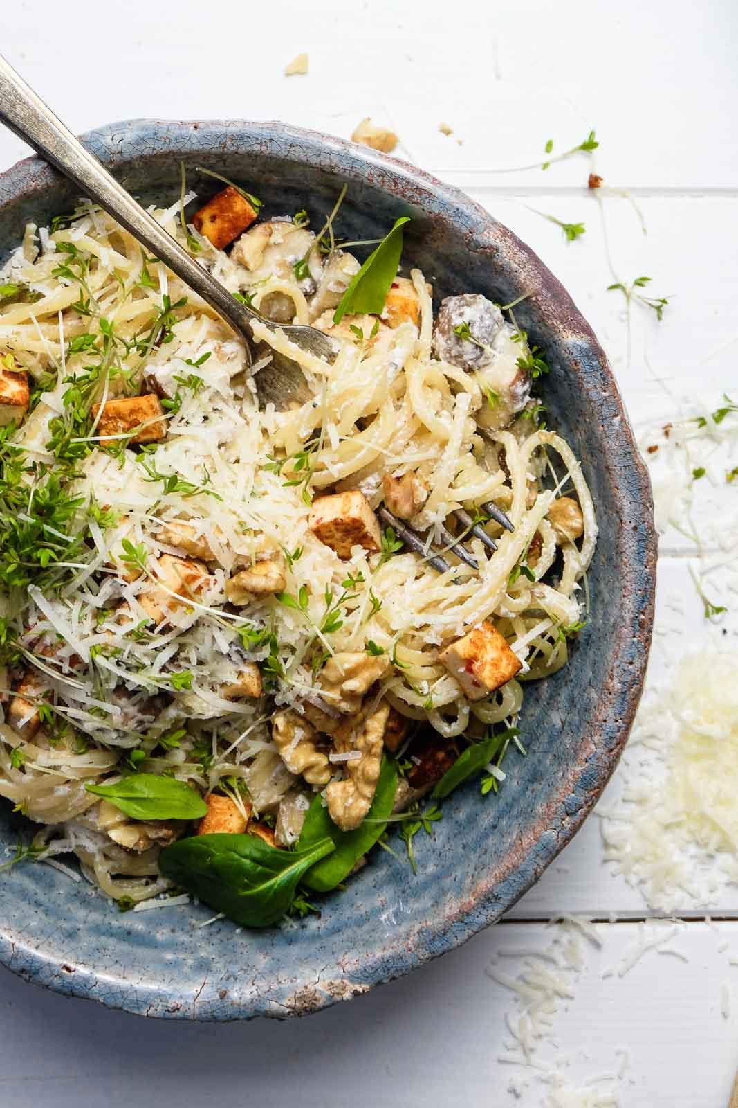 Pilz-Ricotta-Spaghetti (2 von 4)
