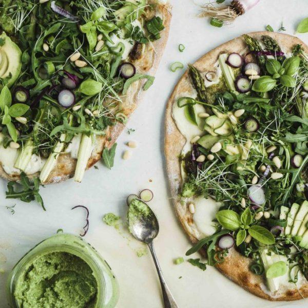 Grüne-Pizza