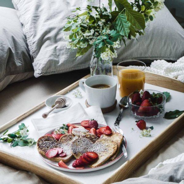 Herz-Pancakes zum Muttertag
