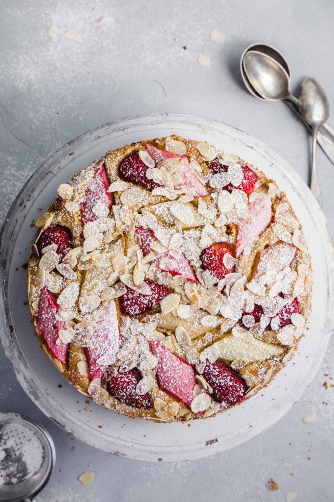 Rhabarber-Erdbeer-Kuchen