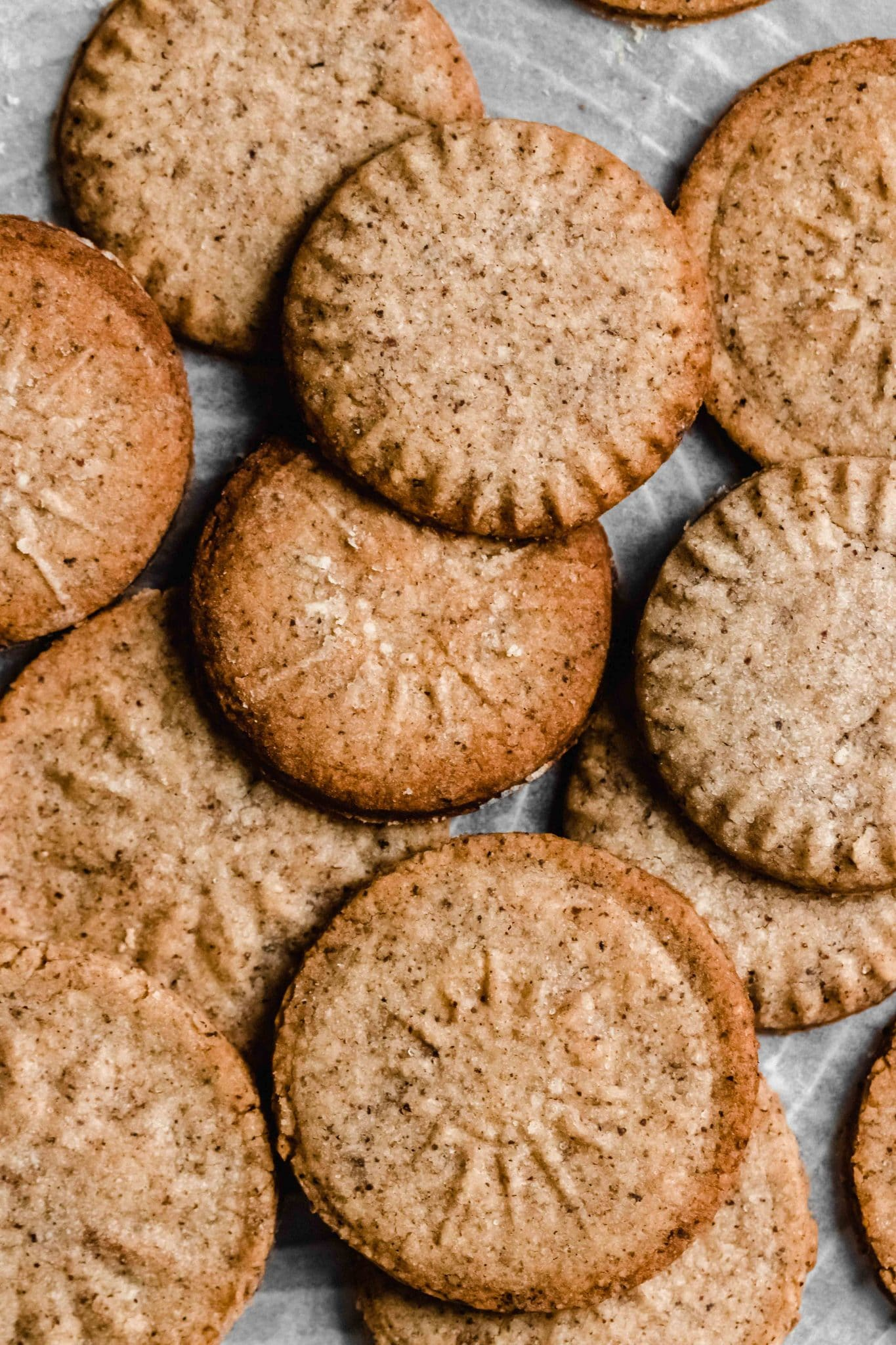 sweet cookies with winter spices