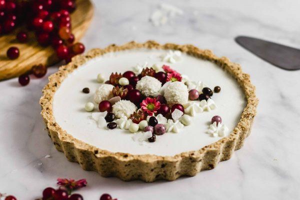 Weiße Schokolade Kokos Tarte