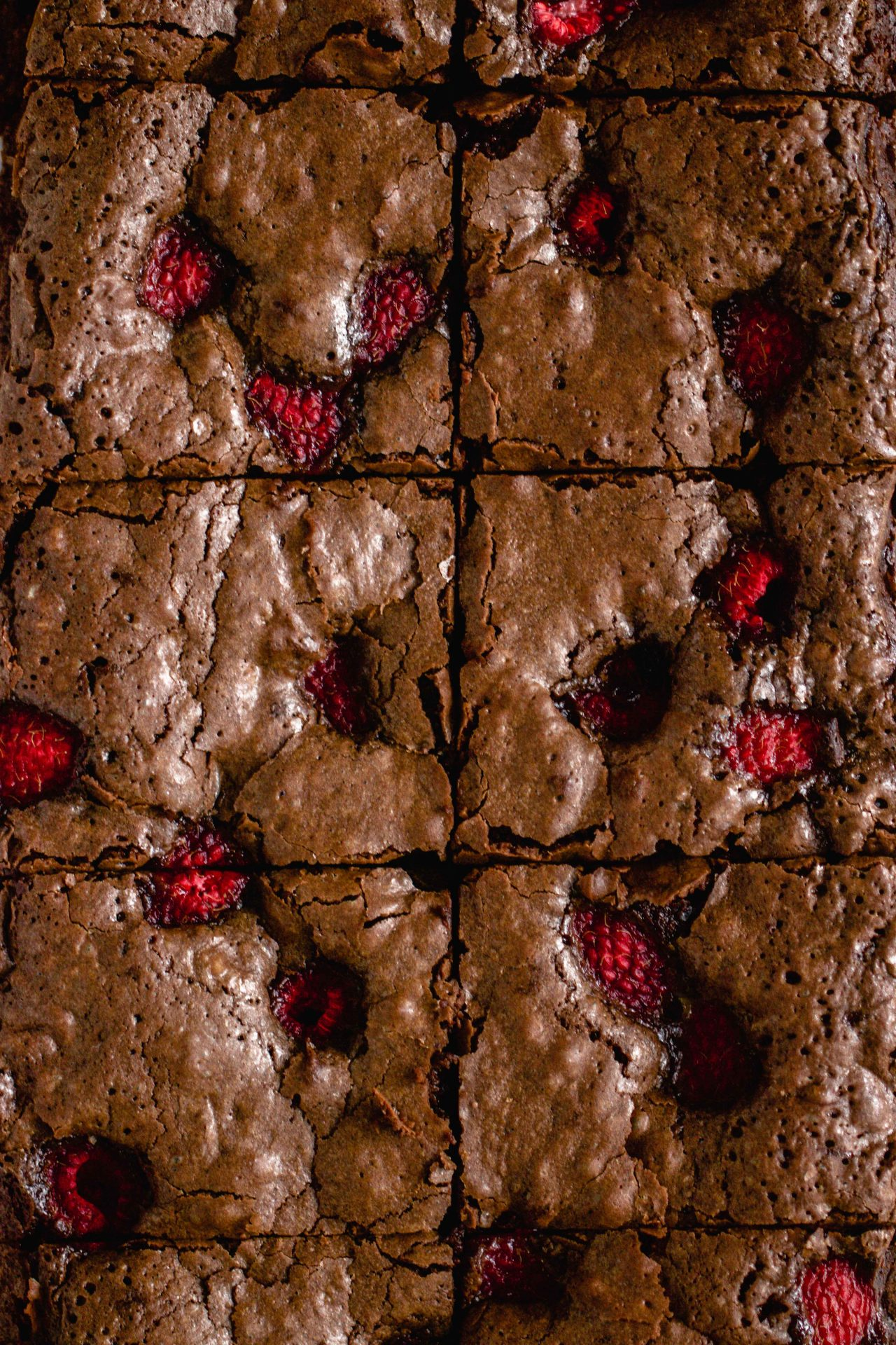 Brownies mit Himbeeren