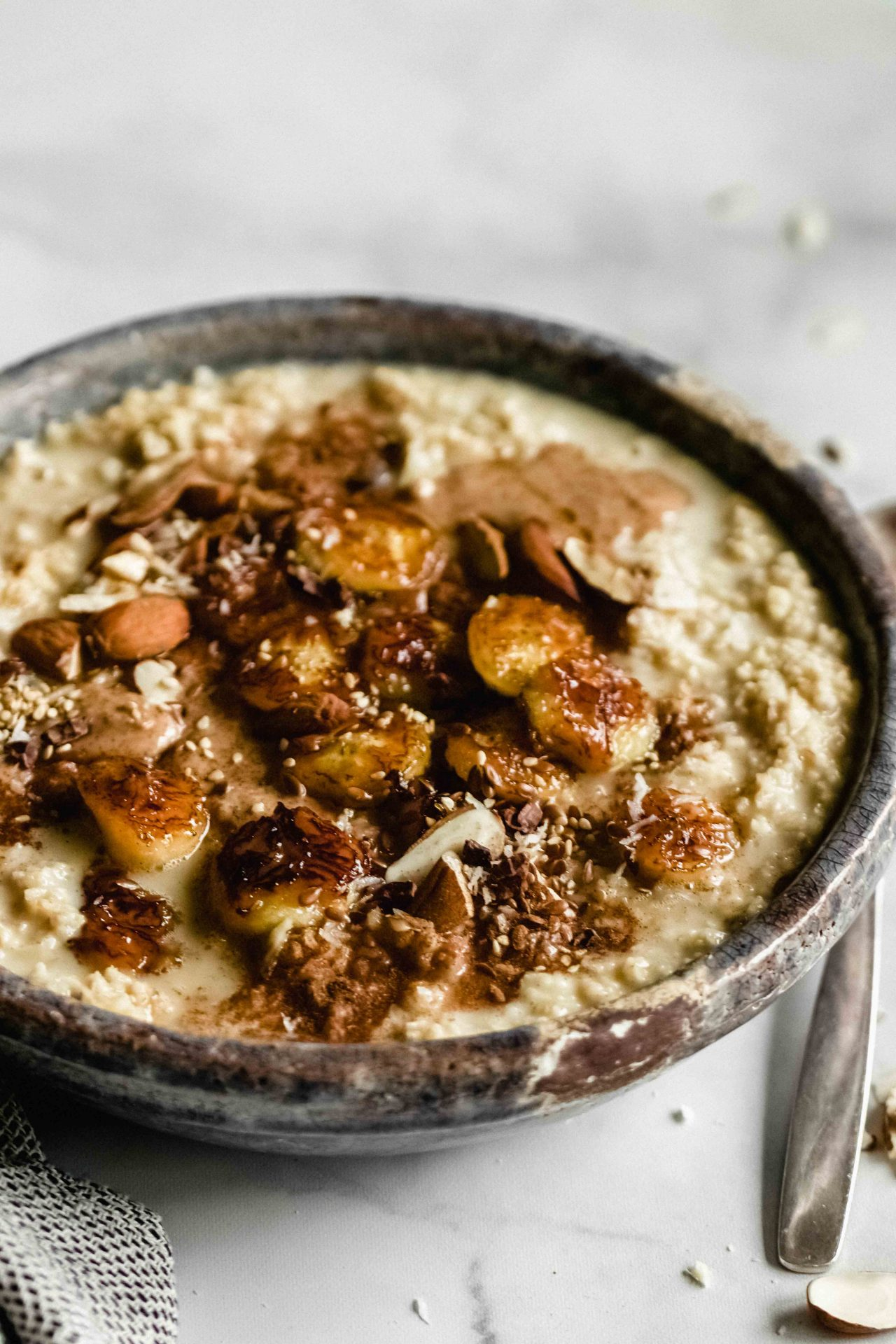 Cardamom Porridge with caramelized bananas