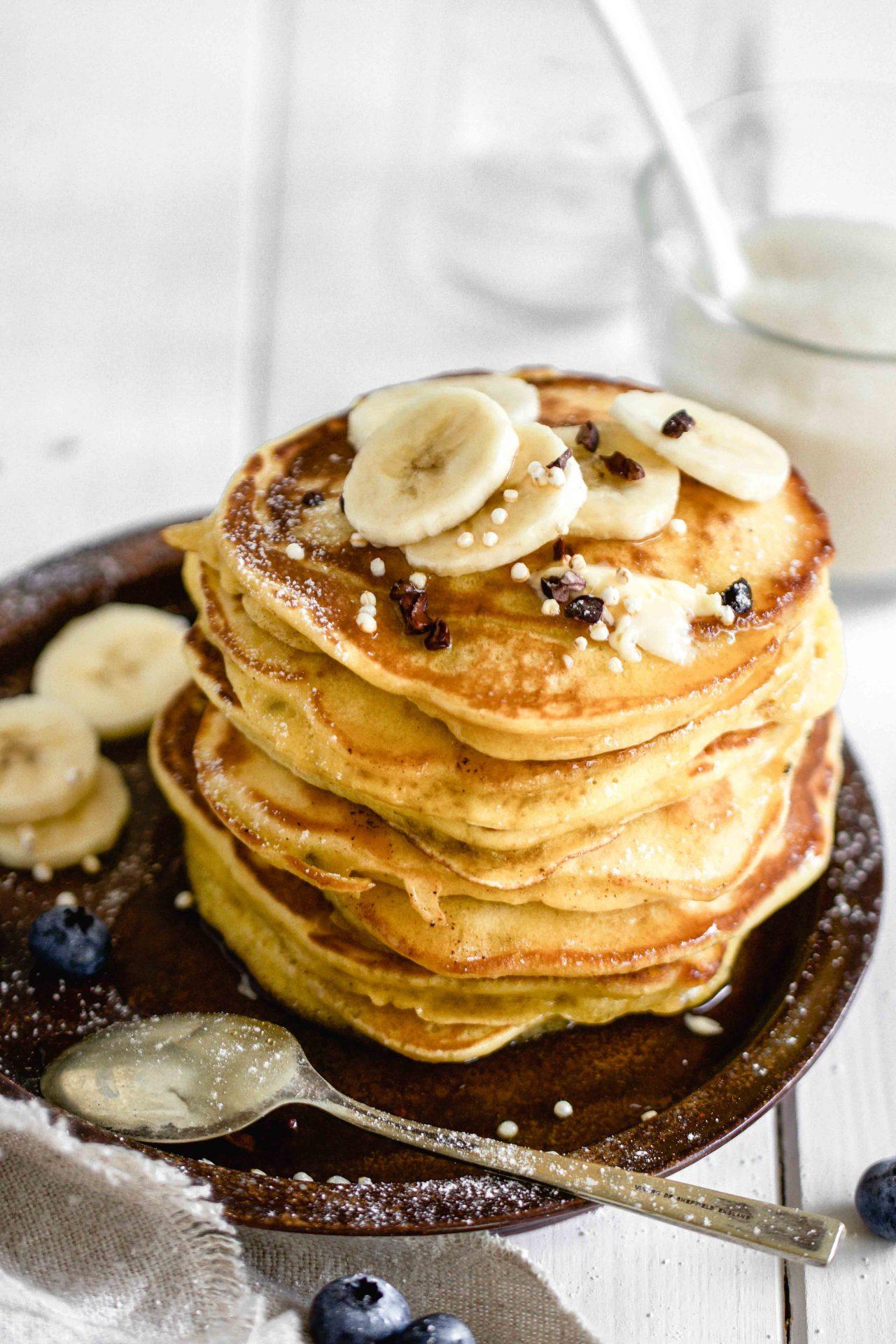 Super einfache Bananen Pancakes