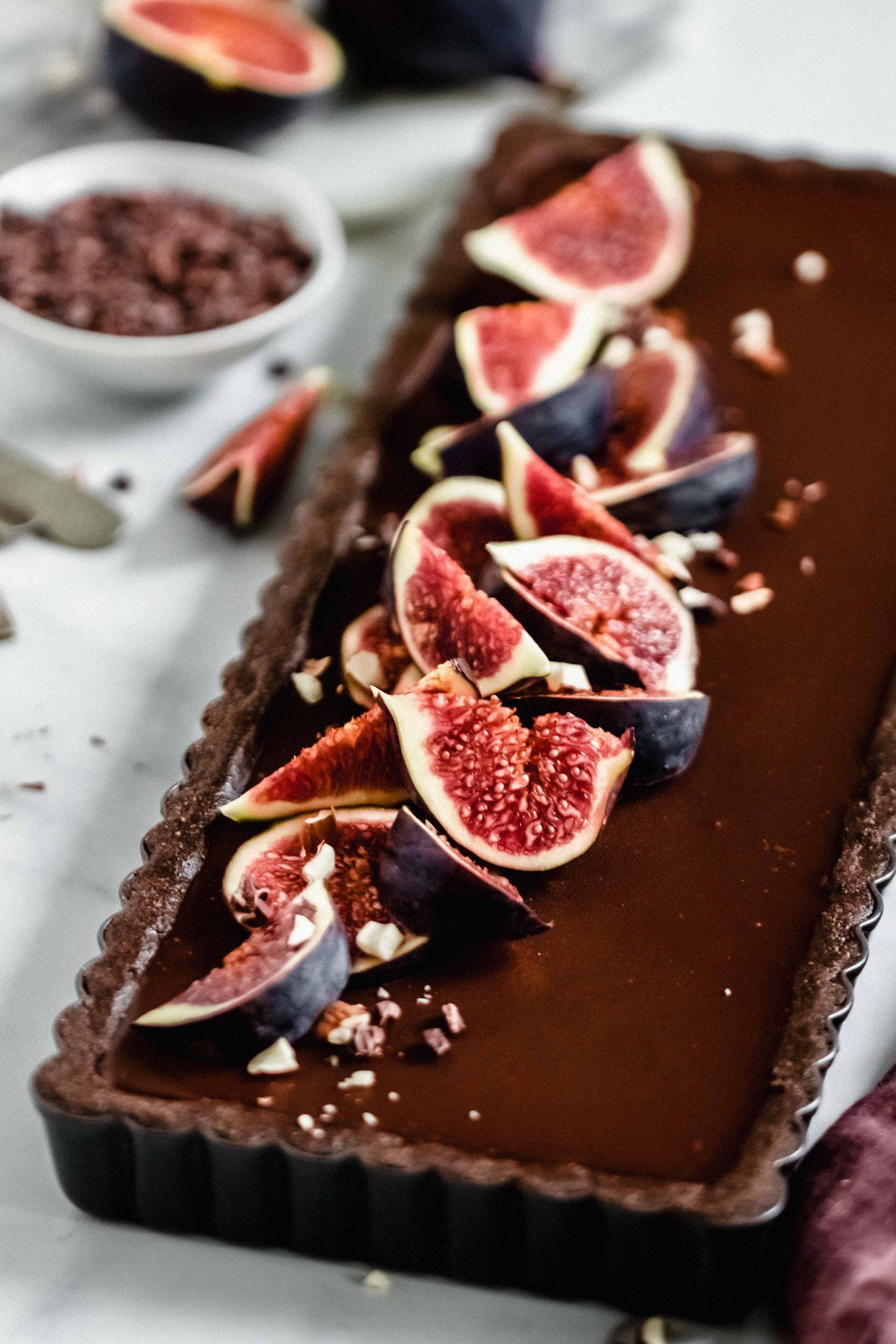 Chocolate Tahini Tart