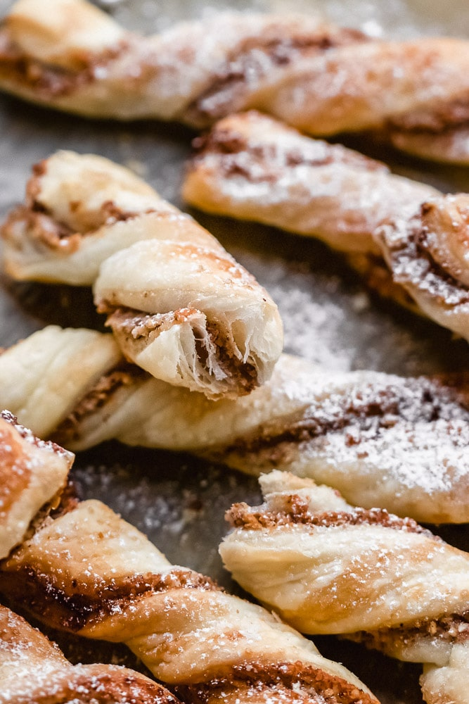 puff pastry hazelnut sticks