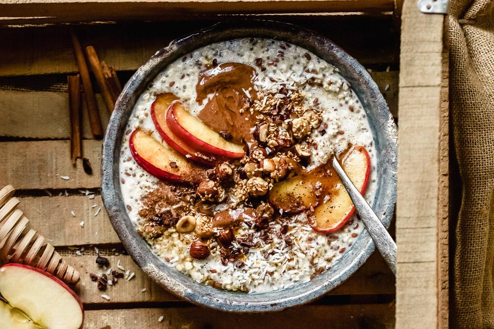 Overnight Oats mit gebratenen Äpfeln