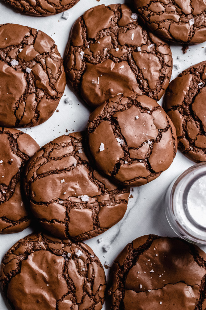 Brownie-Cookies with Espresso