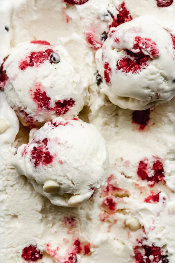 ricotta raspberry chocolate chip ice cream