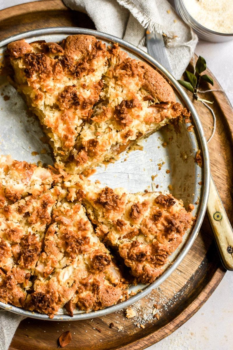 Birnenkuchen mit Kokosstreusel