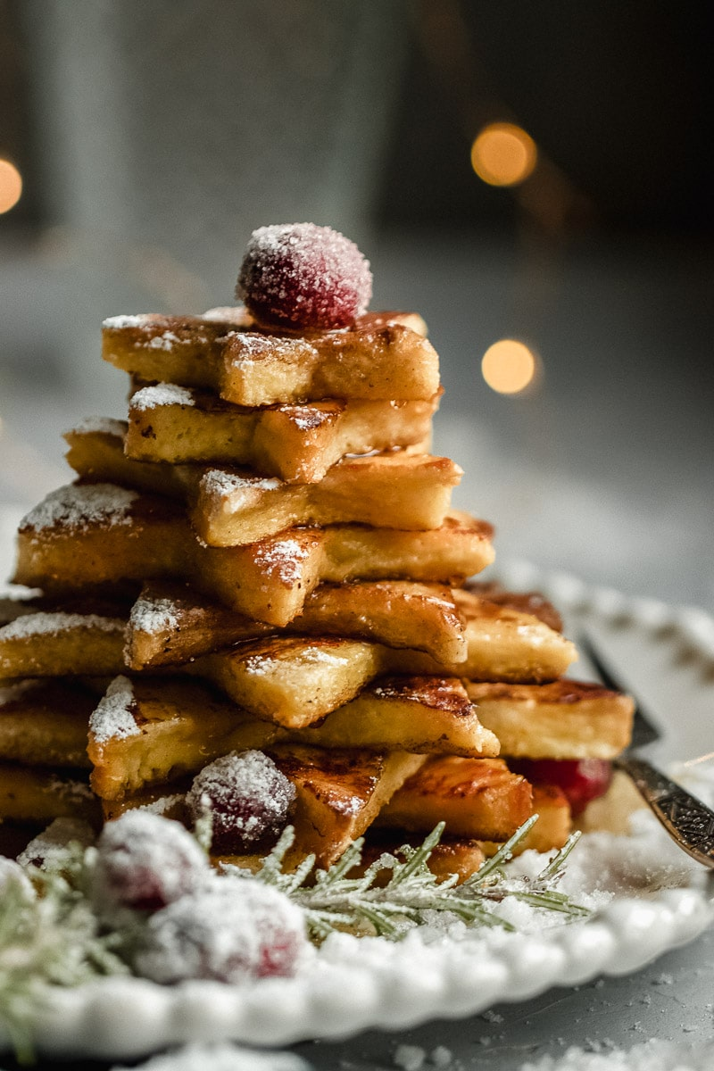 french toast christbaum