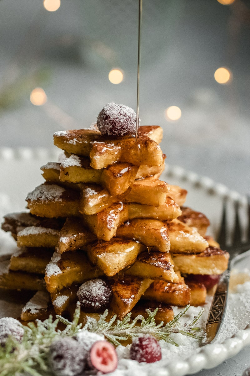 french toast christmas tree