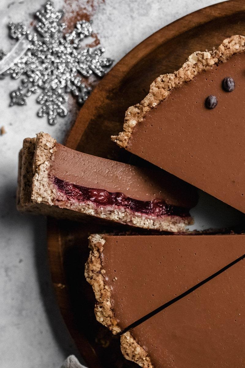 black forest chestnut tart