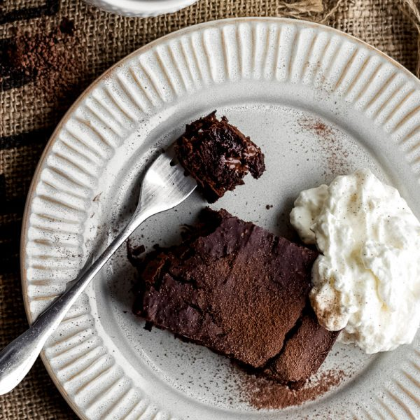double chocolate bean brownies